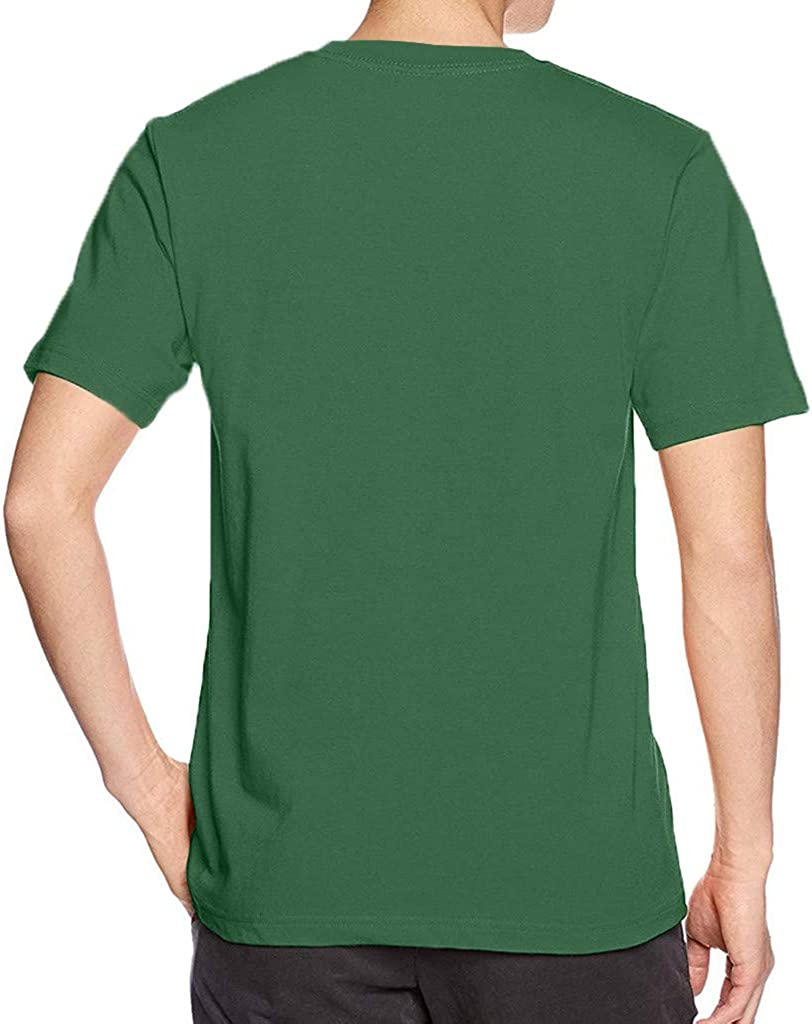 Mens Casual Basic T Shirt Crew Neck Short Sleeve Regular Solid Color Lightweight Plus Size Tees Tops