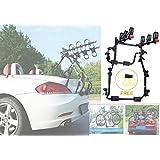 3 Bike Rack for Car SUV Universal Carrier- Bicycle Trunk Mount Rear Racks -Sedan, Hatchback, Small SUV, Bicycle Frame…