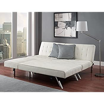 Amazon Com White Faux Leather Sectional Sofa Couch Queen