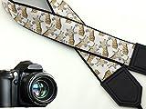 Giraffe camera strap. Black DSLR / SLR Camera Strap. Durable, light weight and well padded camera strap. code 00024