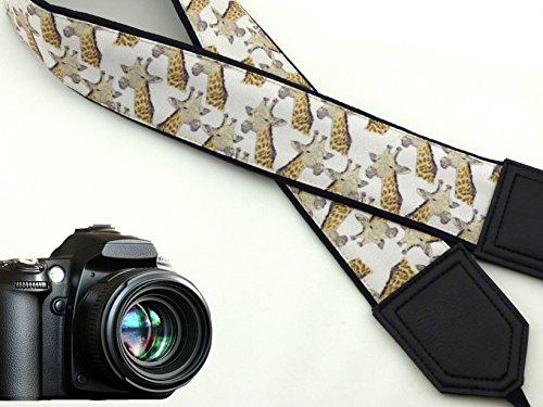 Giraffe Camera Strap. Black DSLR/SLR Camera Strap. Durable, Light Weight and Well Padded Camera Strap. Code 00024
