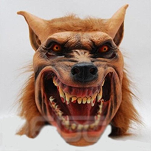 Gooday Halloween Party Mask Wolf Masks Animas Head Masks (Evil (Half Good Half Bad Costumes)
