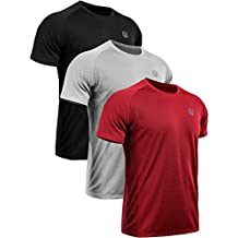 Neleus Men's Dry Fit Mesh Athletic Shirts 3 or 1 Pack