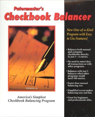 patermaster patermasters checkbook balancer windows