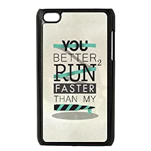 iPod Touch 4 Case Black quotes run faster bullet Ennwn