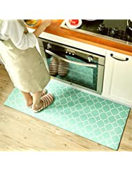 Lovely Ukeler Kitchen Rug,Waterproof Kitchen Rug Runner Washable Non Slip Durable  Bathroom Rug, 17.7u0027u0027×47.2u0027u0027, Green