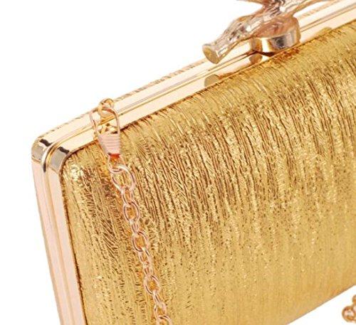 Bolsos Bolsos De Pu Ban Europa Y Los Estados Unidos Moda Paquetes De Cena Bolsos Bolsos Gold
