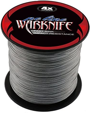 Warknife 4 Stands Super Strong Braided Fishing Line Tensile Strength 300Meters 328Yards 6-100LB