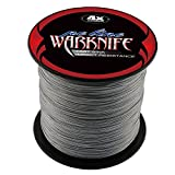 Warknife 4 Stands Super Strong Braided Fishing Line Tensile Strength 500Meters/546.8Yards 6LB Gray