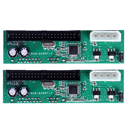HDE 2 Pack IDE/EIDE/PATA Computer to SATA Hard Drive Interface Adapter PC Mac ()