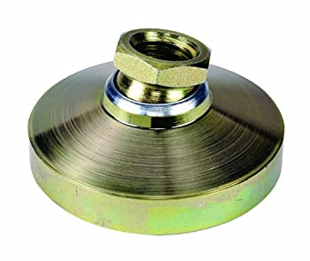 TE-CO 44432 Leveling Pad Zinc Plated, 1/2-13 Thread Size (2-Pack)