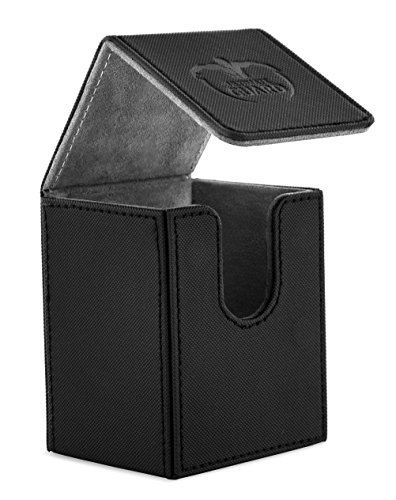 Ultimate Guard 100 Card Flip Xenoskin Deck Case, Black by Ultimate Guard