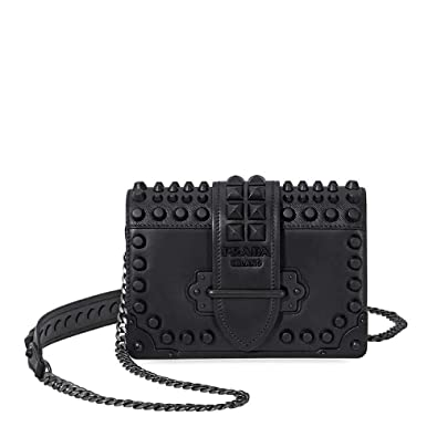 605d0f0c12cf Image Unavailable. Image not available for. Color  Prada Small Leather  Crossbody Bag- Black