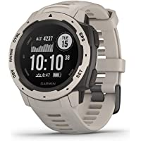 $221 » Garmin 010-02064-01 Instinct, Rugged Outdoor Watch with GPS, Features Glonass and Galileo,…