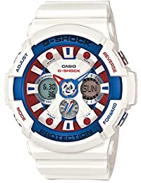 Casio - G-Shock - Tricolour Maritime Series - GA110TR-7A - White/Blue/Red Resin watch - World Time