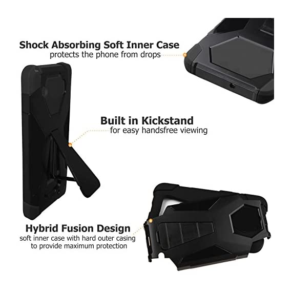"""URAKKI Case, Hybrid 2 Layer Shock Proof Heavy Duty Armor Kickstand Hard Case Compatible with Samsung Galaxy S8 G950… 3 COMPATIBLE WITH: Samsung Galaxy S8 G950 ( 2017 ) / ** NOT FOR ** Galaxy S8 """"Plus"""" , S8 """"Edge"""" G955 (2017) DUAL LAYERED - combination of skin and hard """"Grade A"""" material for a good, balanced protection BUILT IN KICKSTAND - allows for convenient, hands-free landscape or portrait viewing"""