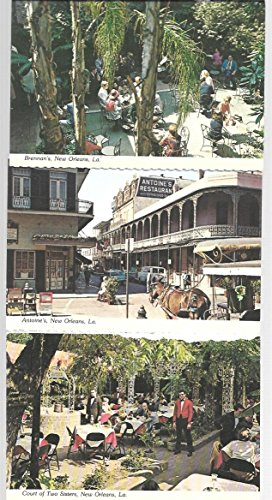 THree New Orleans Restaurant Post Cards: Court of Two Sisters, Brennans, Antoine's (The Court Of Three Sisters New Orleans)