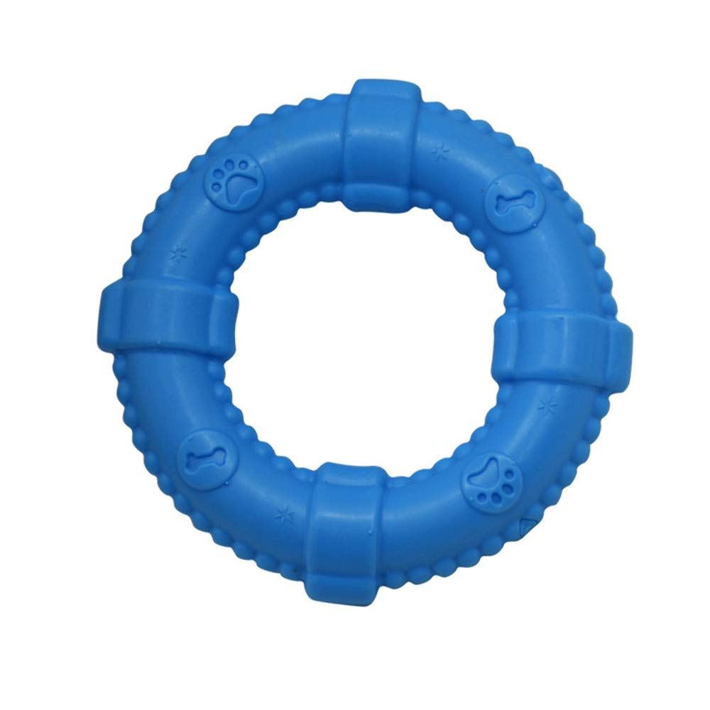 Pet Molars Bite-Resistant Rubber-Small Pull Ring-Molar Training- Dog Safety Material- Suitable for Dog Teeth Chewing Training (bluee)