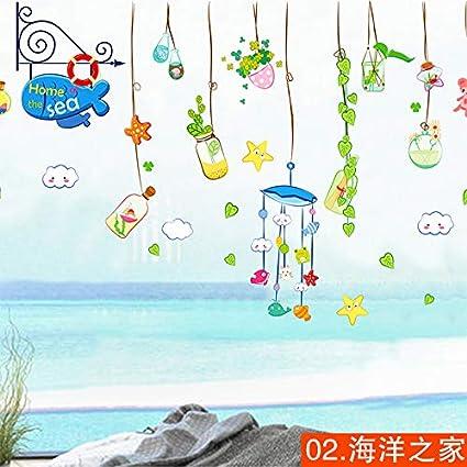 Vinilos Decorativos Stickers Pegatinas Paredcálida Sala De Estar De Los Niños Decorada Con Pegatinas De Vidrio