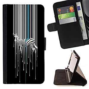 For Sony Xperia Z5 compact / mini Cool Color Zebra Pattern Style PU Leather Case Wallet Flip Stand Flap Closure Cover
