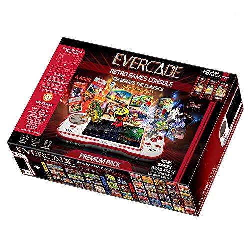 Evercade Premium Pack - Consola portátil con cartuchos retro multijuego a buen precio