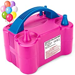 Throwing a huge party for a loved one, friend, or co-worker? Wondering if you've got the stamina and lung capacity to blow up all those party balloons? Save yourself time, hassle, and precious oxygen with this powerful electric balloon pump! ...