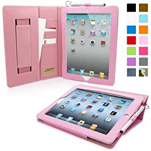 Snugg® iPad 2 Case - Executive Smart Cover With Card Slots & Lifetime Guarantee (Candy Pink Leather) for Apple iPad 2
