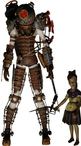 NECA Bioshock 2 Exclusive Ultra Deluxe Action Figure 2Pack Big Sister & Little Sister (Bioshock Big Daddy Ultra Deluxe Action Figure)