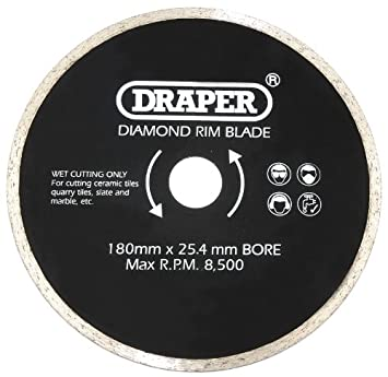 Draper 10350 180mm tile cutting saw blade amazon diy tools draper 10350 180mm tile cutting saw blade greentooth Image collections
