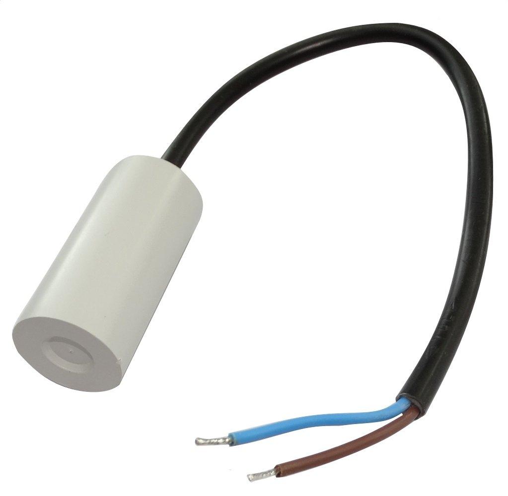 Aerzetix: Condensateur permanent de travail pour moteur 3µF 450V précâblé Ø25x53mm ±10% 10000h C18724 C18724-AL713