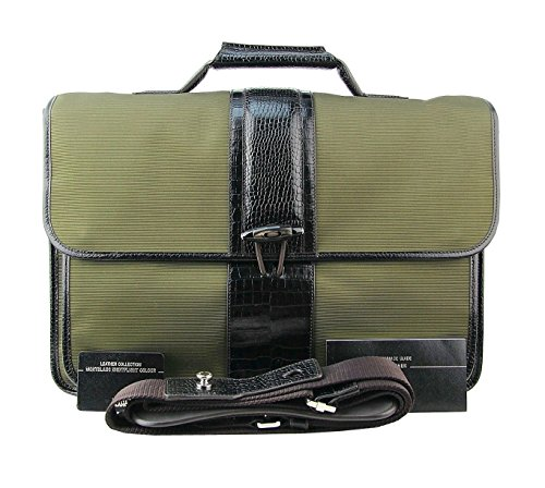 MONTBLANC-BAG-NIGHTFLIGHT-ALLIGATOR-EMBOSSED-BROWN-LEATHER-KHAKI-BRIEFCASE-103610