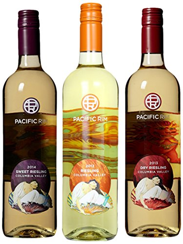 Pacific Rim Riesling Sampler Mixed Pack, 3 X 750 mL Wine