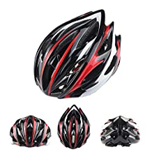 Ezyoutdoor 24 Holes Ultralight Integrally Molded EPS Bicycle Helmet Specialized for Road Mountain Bicycle with Removable Antibacterial Pads for Adult