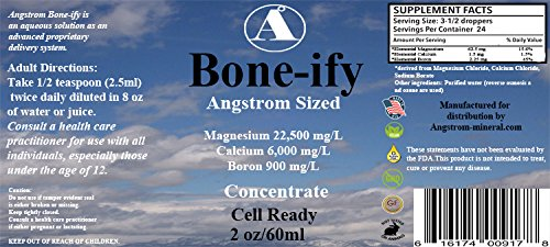 Bone Support 2 oz Bone-ify by Angstrom Minerals Calcium Magnesium and Boron Supplement
