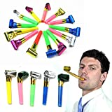Party Blowing Foil Whistles - Pack of 48 Toy Cubby Party Favor Horn Blowers - Kids, Toddlers, Teens...