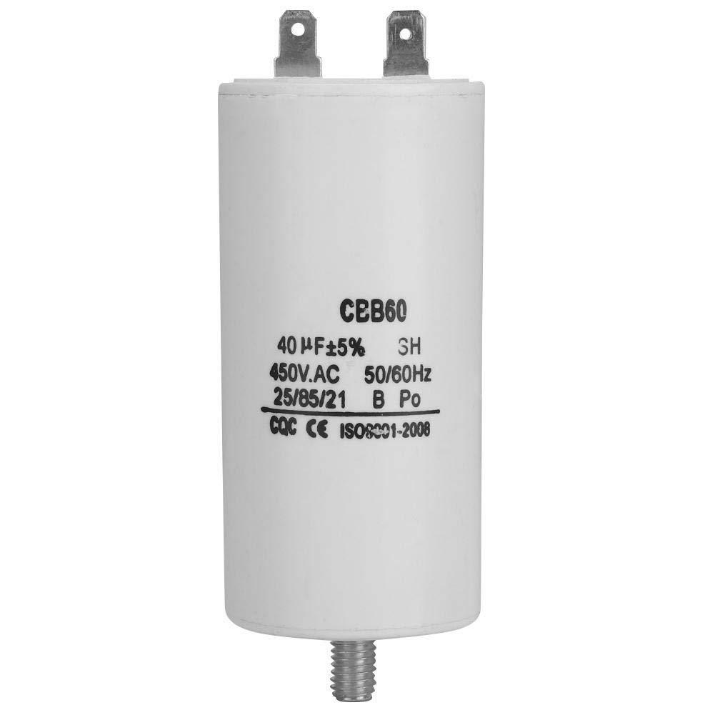 Condensateur /À Eau Blanche 450V 40uf for Pompe CBB60 for Machine /À Laver 50 60Hz Condensateur Pompe