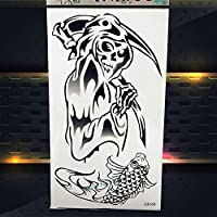 Yyoutop Desechable Impermeable Brazo Tatuaje Muerte Cráneo Cabeza ...