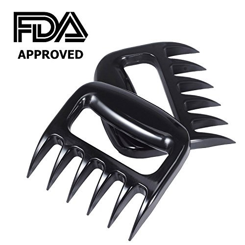 Pulled Pork Shredder Meat Claws - STRONGEST BBQ MEAT FORKS - Handlers Shredding Forks Smoked BBQ Meat Grilling Accessories Environmental PP Material Solid Design- Set of 2