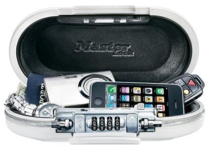 Master Lock Mini coffre nomade Fermeture A combinaison Blanc Taille Unique AZE3f