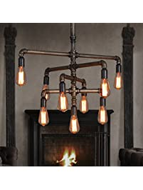Best SEOL LIGHT Barn Adjustable Pipe Chandeliers with light Industrial Style Max