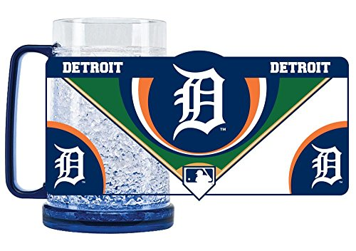 Duck House 1 Pc, Detroit Tigers Mug Crystal Freezer Style, 16oz, Eye Catching Crystals, State-Of-The-Art Refreezability With Color Coordinated Handle & Base