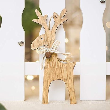 Iseasy Decorazioni Albero Di Natale Renne Decorative Appendibili In