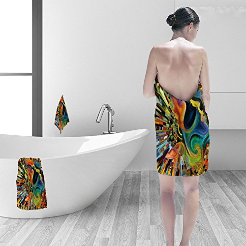 - Hand towel set Colors of the Mind series Creative arrangement of elements of human face and colorful abstract shapes as concept metaphor on subject of mind reason thought emotion and spirituality