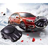 Portable Car Heater Fan, ixaer Car Vehicle Heating Cooling Fan 30 Seconds Fast Heating Quickly Defrosts Defogger 12V 150W Auto Ceramic Heater Cooling Fan 3-Outlet - Winter Auto Windscreen Heater Fan