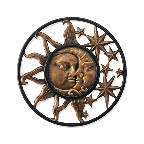 Handcrafted Weather-Sturdy Aluminum Sun & Moon Face Wall ...