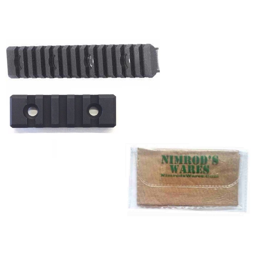Diamondhead VRS Rail Section SET: LONG 7'' + SHORT 2'' + Nimrod's Wares Microfiber Cloth