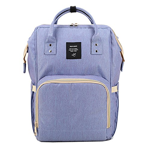 BigForest Multifunction Maternity Mummy Backpack Travel Tote Bag Baby Diaper Nappy Changing Handbag Light blue