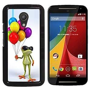 Be Good Phone Accessory // Dura Cáscara cubierta Protectora Caso Carcasa Funda de Protección para Motorola MOTO G 2ND GEN II // Birthday Kids Frog White