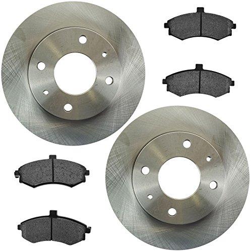 Brake Pad & Rotor Front Ceramic Kit Set for Hyundai Elantra