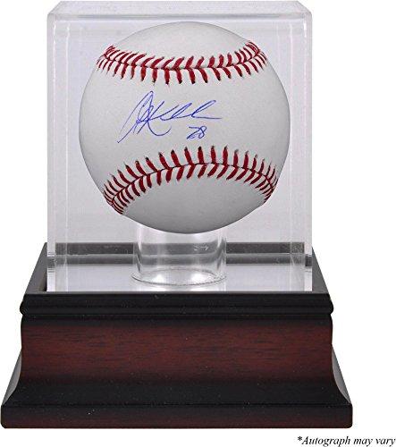 Indians Display Baseball Cleveland (Corey Kluber Cleveland Indians Autographed Baseball and Mahogany Baseball Display Case - Fanatics Authentic Certified)